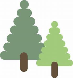 Stock Illustration - Drawing of a pair of trees