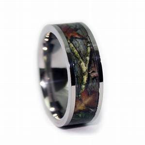 camo wedding rings by one camo flat titanium mens wedding With camo titanium wedding rings