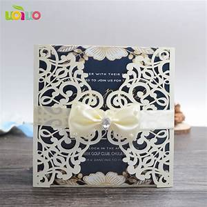 Cheap Black Light Party Supplies Cheap Wedding Invitation Card 100pcs Laser Cut Brown