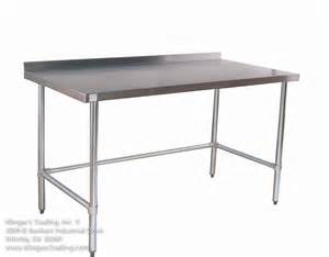 commercial kitchen furniture stainless work tables with backsplash all stainless prep tables commercial kitchen tables with