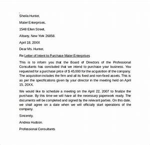 letter of intent to purchase business 8 free samples With letter of intent to purchase property template