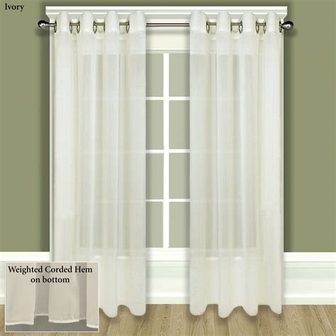 Sheer Curtain Panels With Grommets by Tergaline Sheer Grommet Curtain Panel