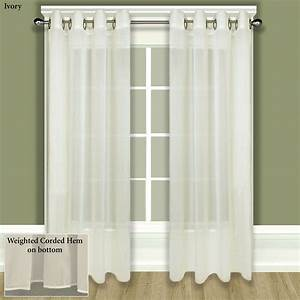 Tergaline sheer grommet curtain panel for Grommet curtains with sheers