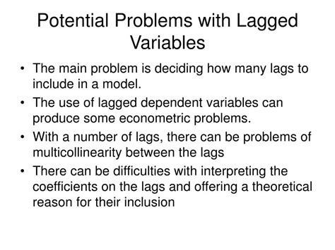 Potential Problems by Ppt Functional Form And Dynamic Models Powerpoint