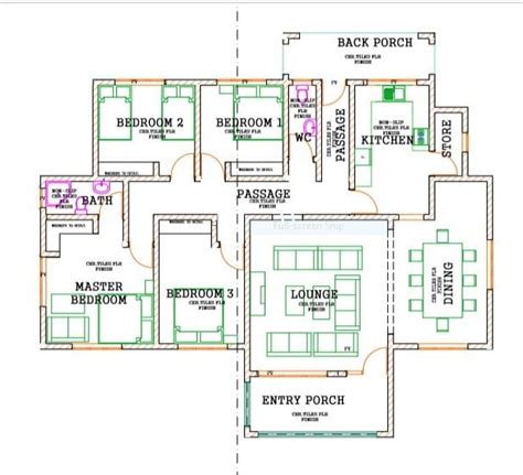bedroom bungalow house plans hpd consult