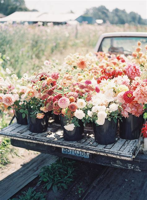 floret flower farm truck wedding party ideas