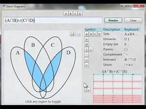 Venn Diagram  A N B  U  C N D  Four Circles