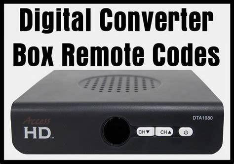 Digital Converter Box Remote Codes