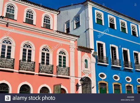 Colorful Colonial by Brazil Bahia Colorful Colonial Style Houses In The
