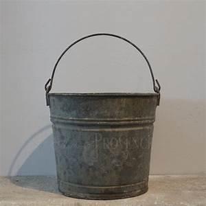 Antique, Galvanized, Bucket
