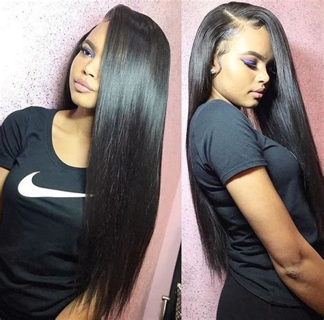 uhair peruvian hair straight weave 3 bundles with lace
