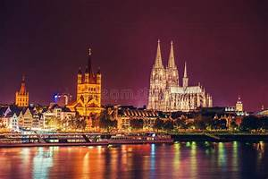 Cologne Cathedral Night Scene Stock Image Image 46528801