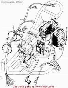 Honda Sl90 Motosport 1969 Usa Wire Harness    Battery