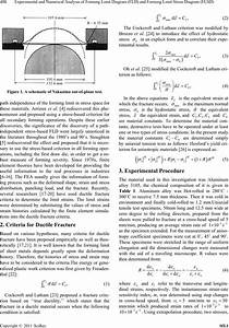 Experimental And Numerical Analysis Of Forming Limit