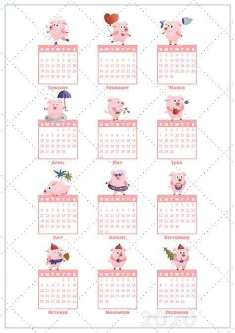 calendar stickers printable pigs cute freebies