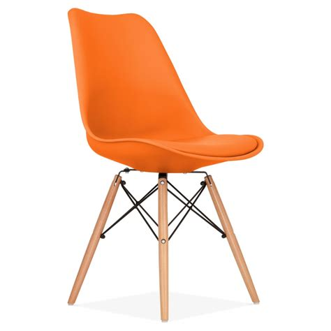 chaises orange orange dining chair with dsw style wood legs modern