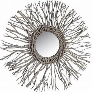 Miroir En Bois Flotté : miroir soleil belle deco ~ Teatrodelosmanantiales.com Idées de Décoration