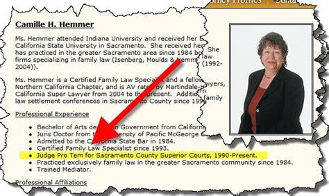 sacramento family court report whistleblower judge
