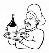 Chef Italian Coloring Cartoon Vector Illustration Dreamstime sketch template