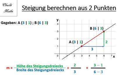 steigung berechnen gerade gerade durch zwei punkte analysis f03 lineare funktionen in