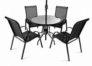 Sonnenschirm Tisch Kombination : runder gartentisch mit 4 st hlen und sonnenschirm saragossa 360 99 ~ Markanthonyermac.com Haus und Dekorationen