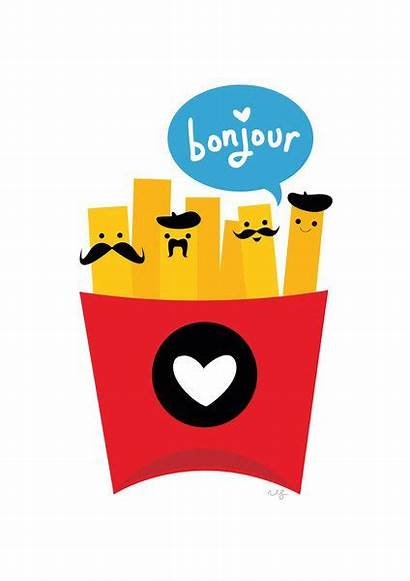 French Fries Kitchen Drawings Bonjour Play Words