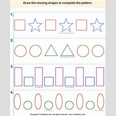 Complete The Missing Pattern Worksheet 1  Turtle Diary