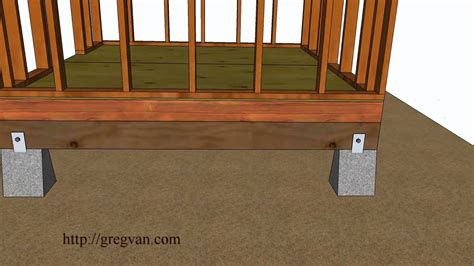 Building A Shed R by Five Ways How To Build A Shed Floor Design And