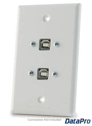usb  type dual wall plate datapro