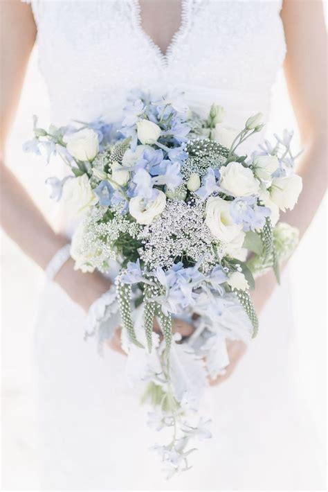 Pastel Blue Bridal Bouquet Flowers By Rori