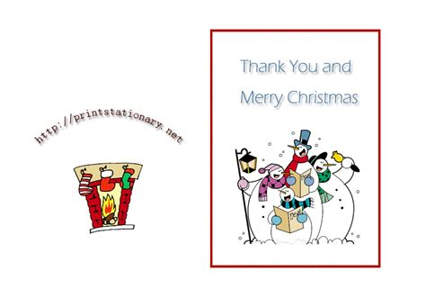 free thank you notes templates free printable christmas thank you cards search results