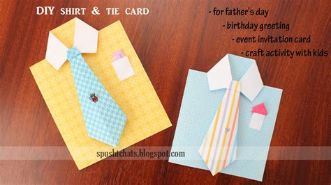 shirt tie card  fathers day birthday diy handmade