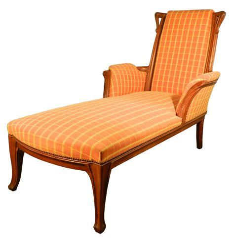 nouveau oak chaise lounge modernism