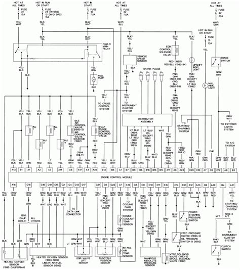 98 Honda Civic Radio Wire Diagram by 1992 1995 Honda Civic Radiator Fan Circuit Ericthecarguy