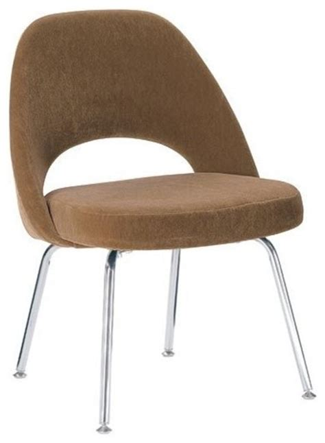 saarinen executive side chair w metal legs fabric design