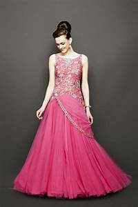 evening dress for wedding in pink color dresses With indian wedding dresses online