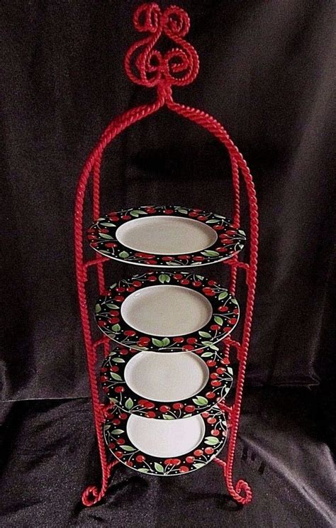 tier wrought iron plate stand plate display stands    items