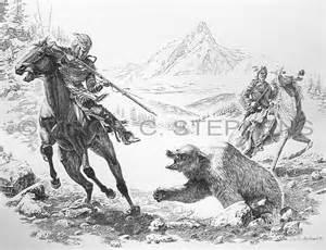 Native American Bear Drawings Pencil