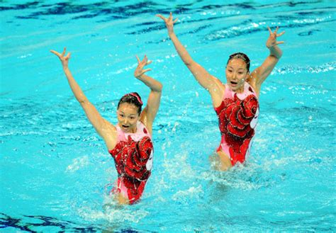 Synchronised swimming in China