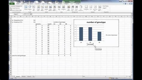 Bio Exle by Make A Column Chart Excel 2010 Screen Capture For Ap Bio