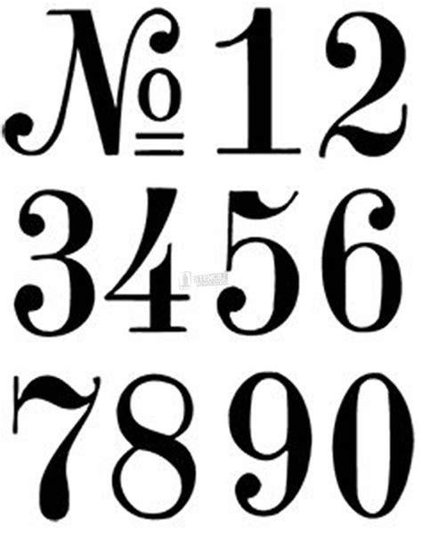 Hausnummer Schablonen Vorlagen by The 25 Best Number Stencils Ideas On Number