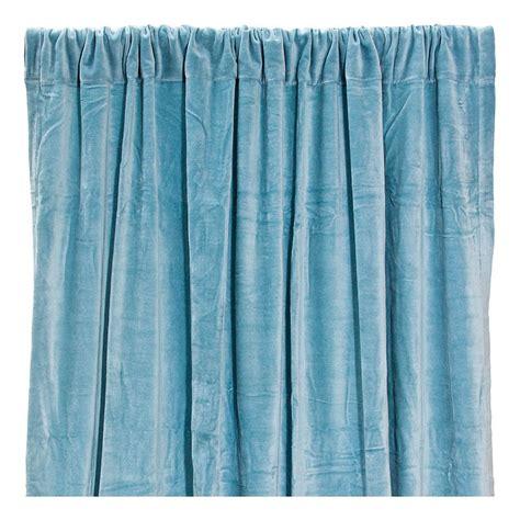rideaux coton velours