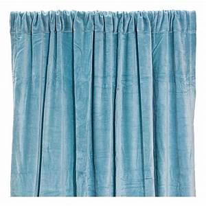 Rideaux Velours Bleu : rideau occultant en velours de coton bleu gris liv interior ~ Teatrodelosmanantiales.com Idées de Décoration