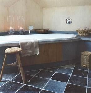 La decobelge salle de bains el39 lefebien for Salle de bain design avec evier en pierre bleue