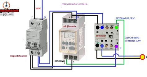 reloj contactor termico maniobra esquemas el 233 ctricos