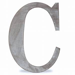 Wood block letter charcoal grey 14in c the lucky for C letter block