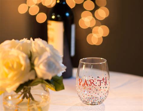decorate   stemless wine glass  testors craft paint