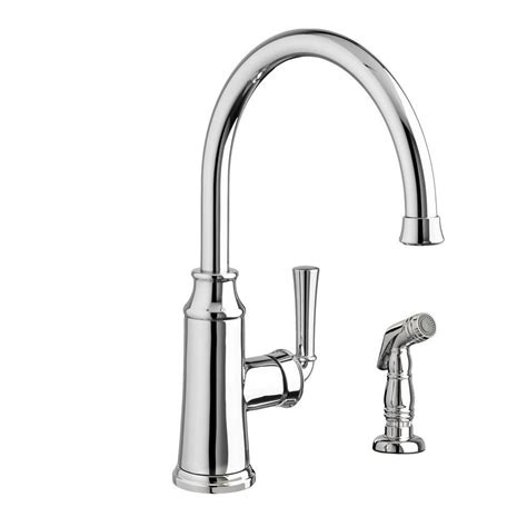 single kitchen faucet with sprayer standard portsmouth high arc single handle