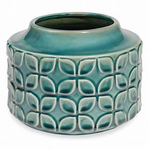 Vase Bleu Canard : vase en gr s bleu canard marguerite maisons du monde ~ Melissatoandfro.com Idées de Décoration
