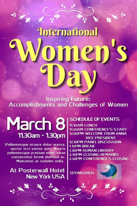 international womens day poster design click